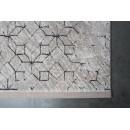 Tapis motifs géométriques noir et blanc Yenga Zuiver