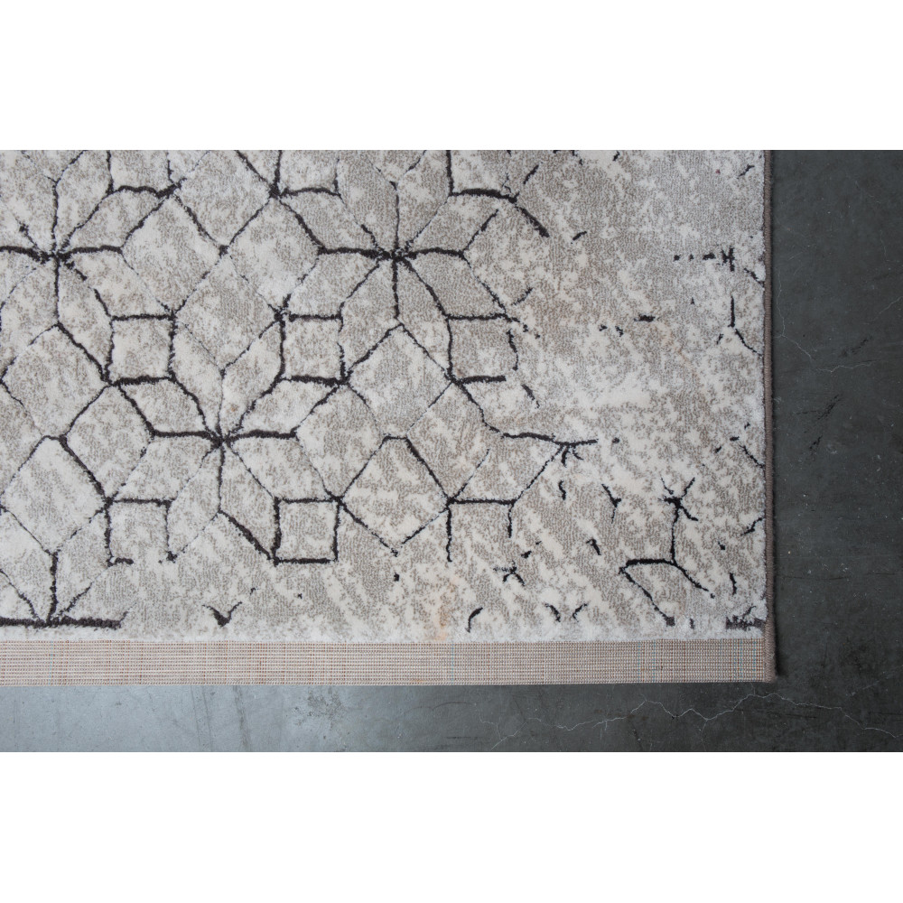 Tapis motifs gu00e9omu00e9triques noir et blanc Yenga Zuiver