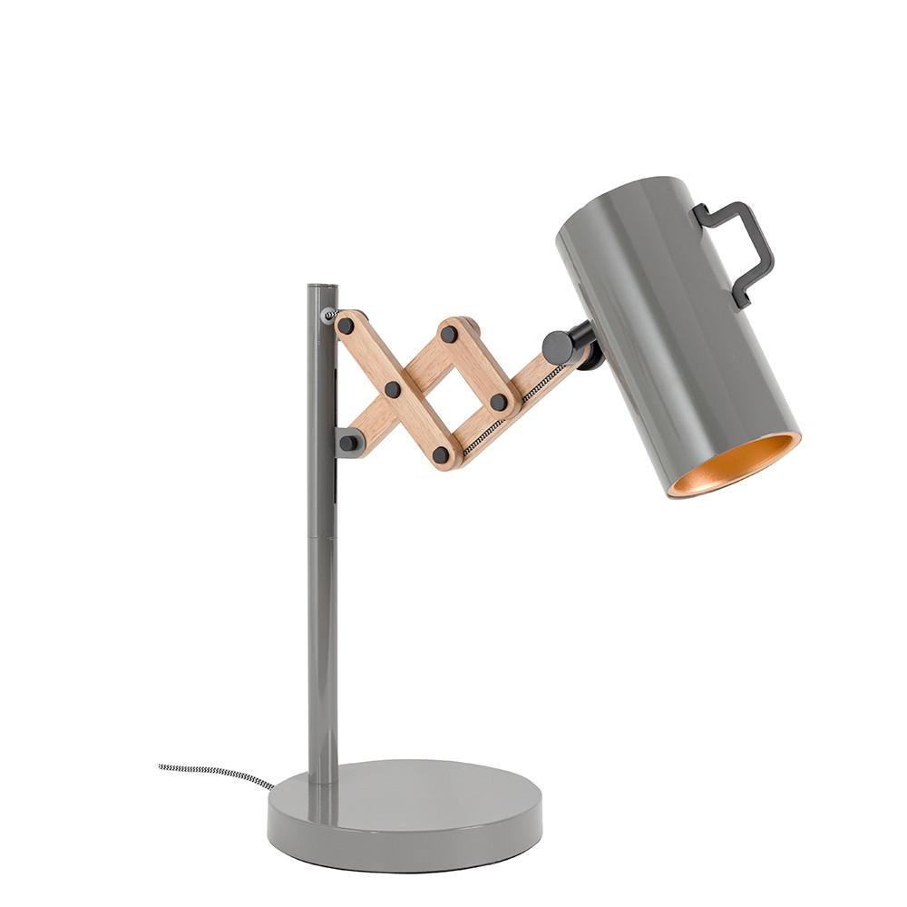 lampe poser bois m tal flex zuiver. Black Bedroom Furniture Sets. Home Design Ideas
