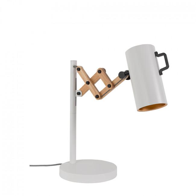 Lampe à poser bois métal Flex