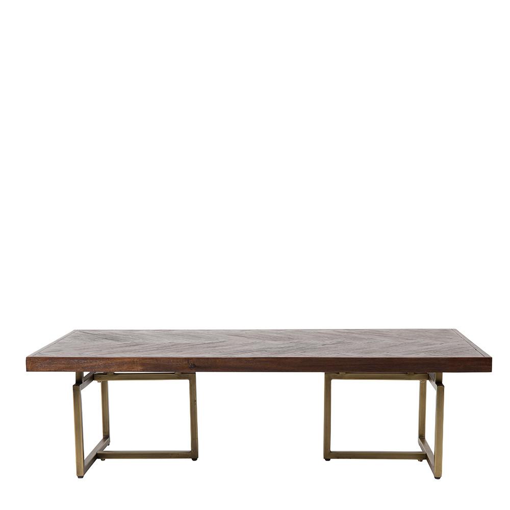 Table basse design bois d 39 acacia et laiton class for Table exterieur acacia