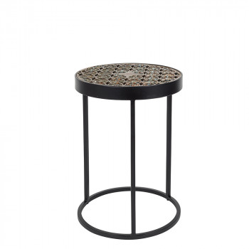 Table basse en marbre blanc style scandinave zuiver - Table d appoint scandinave metal ...