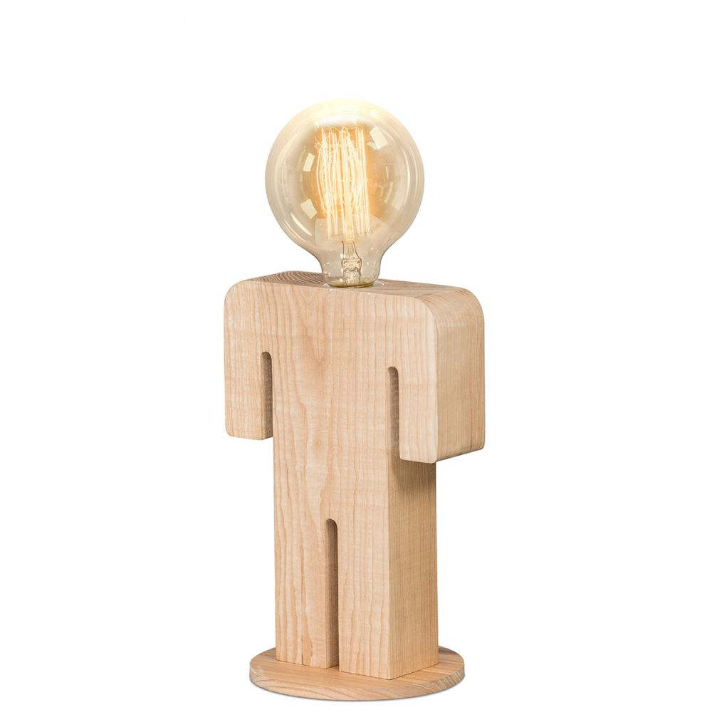 Lampe poser en bois adam for But lampe a poser