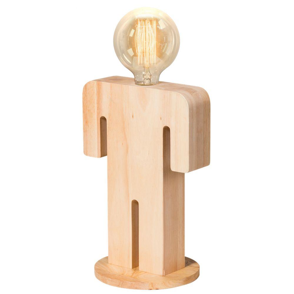 Lampe poser en bois adam xl for Lampe a poser bois