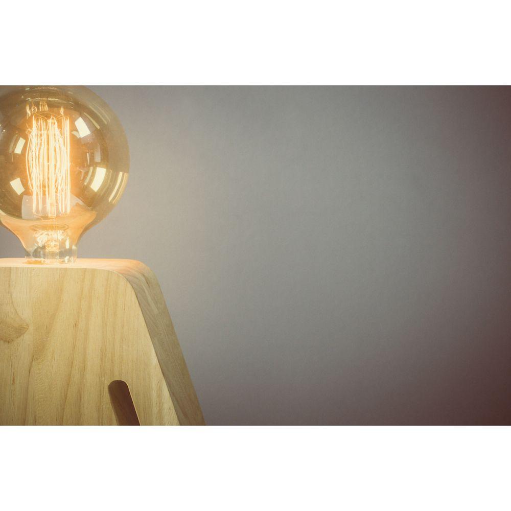 Lampe poser en bois eve - Lampe a poser en bois ...