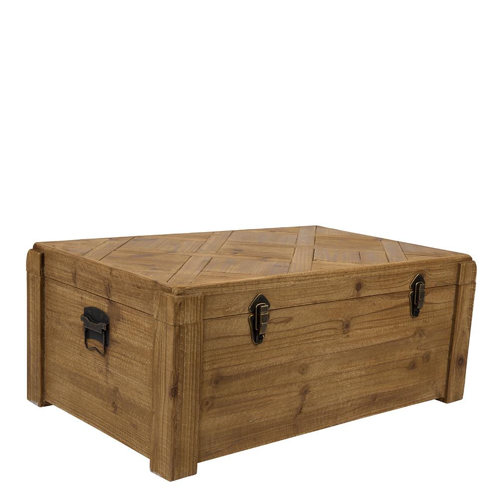 malle de rangement vintage en sapin lon dutchbone. Black Bedroom Furniture Sets. Home Design Ideas