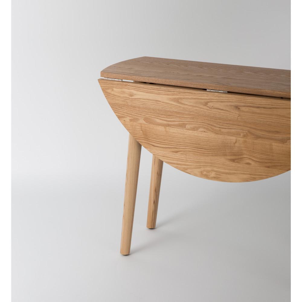 Table manger ronde pliante en bois foldy 100 for Table a manger murale