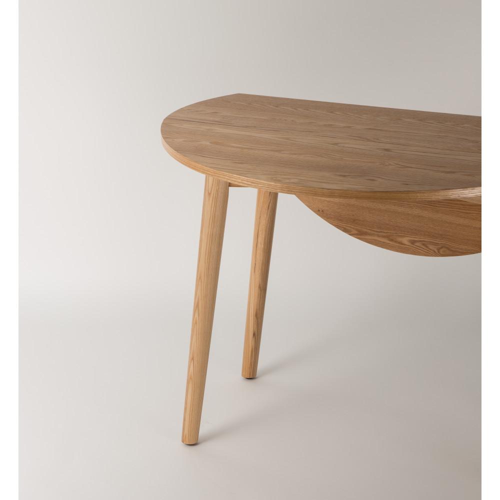 Table manger ronde pliante en bois foldy 100 for Table a manger pliante design