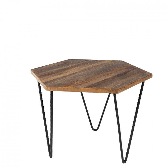 Table d 39 appoint en teck recycl cor - Table en teck recycle ...