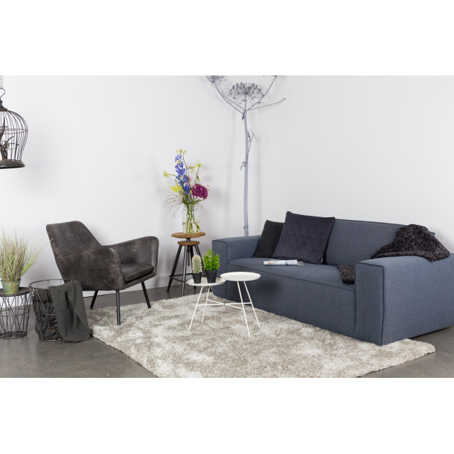 Fauteuil lounge vintage façon cuir Bon