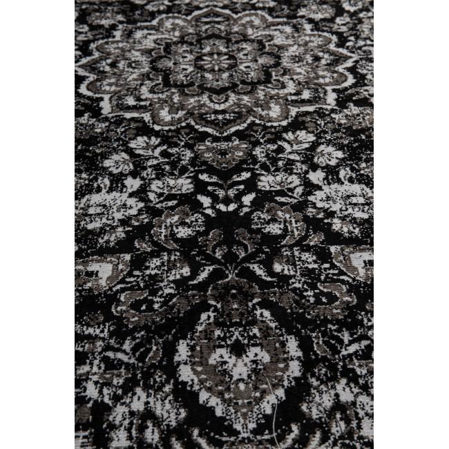 Tapis motifs orientaux noir Chi