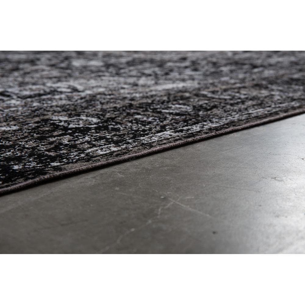 tapis motifs orientaux noir chi - Tapis Noir