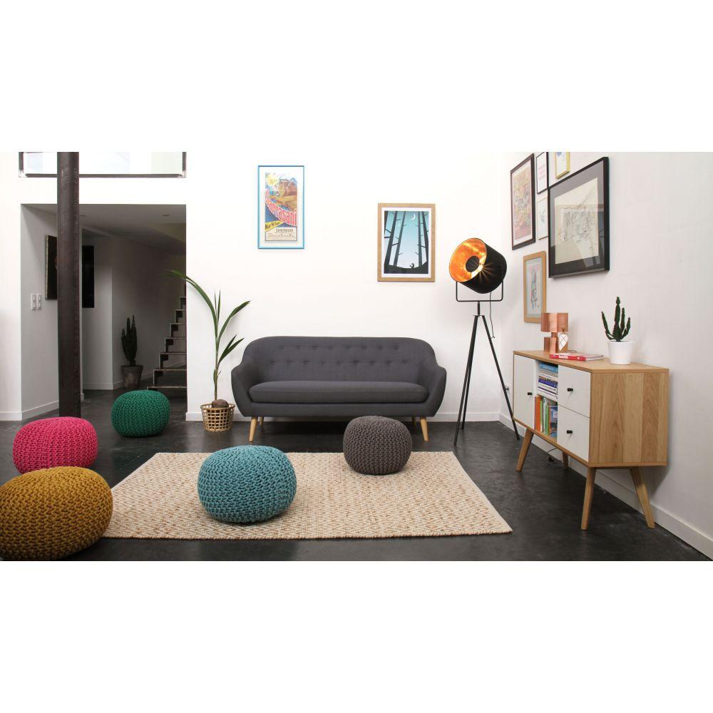 tapis de salon en coton et jute chapati by drawer. Black Bedroom Furniture Sets. Home Design Ideas