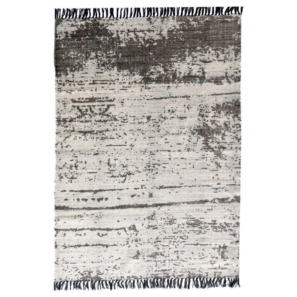 tapis en coton gris cru tiss main gheer. Black Bedroom Furniture Sets. Home Design Ideas