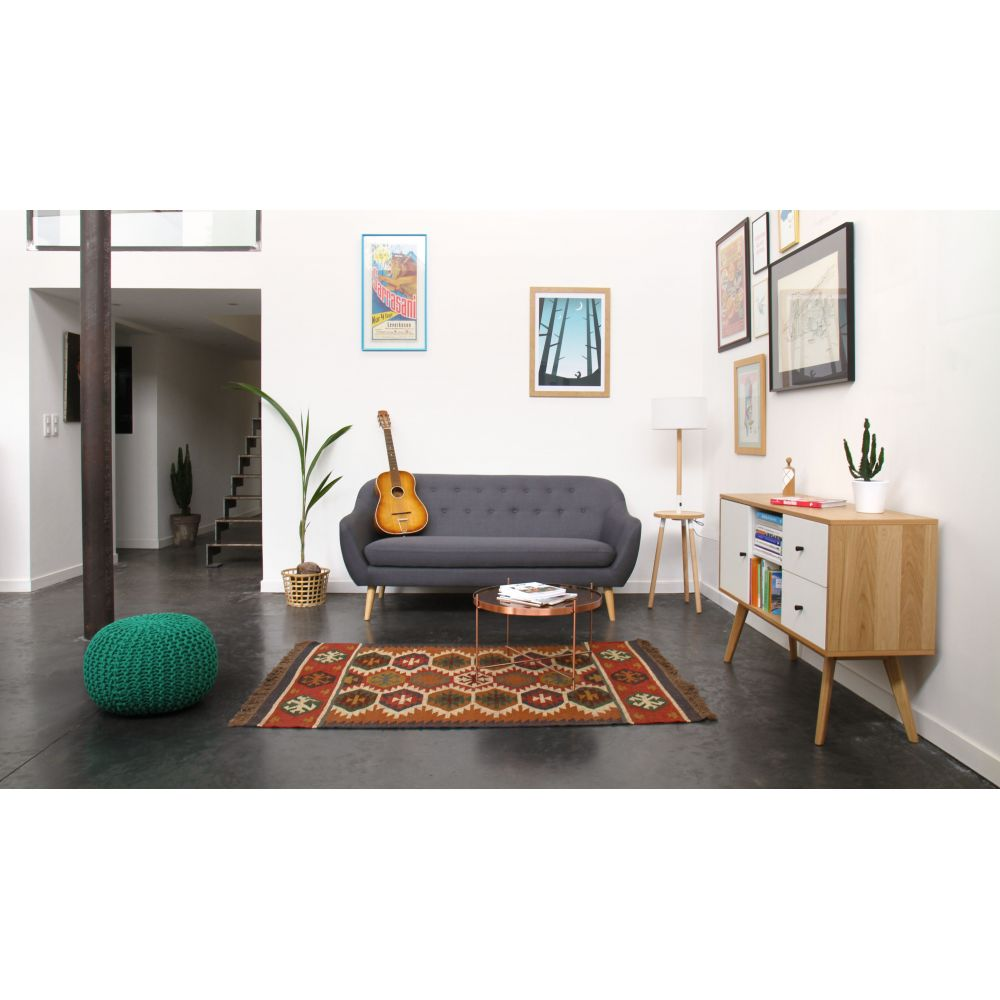 tapis kilim en laine et jute maduban by drawer. Black Bedroom Furniture Sets. Home Design Ideas