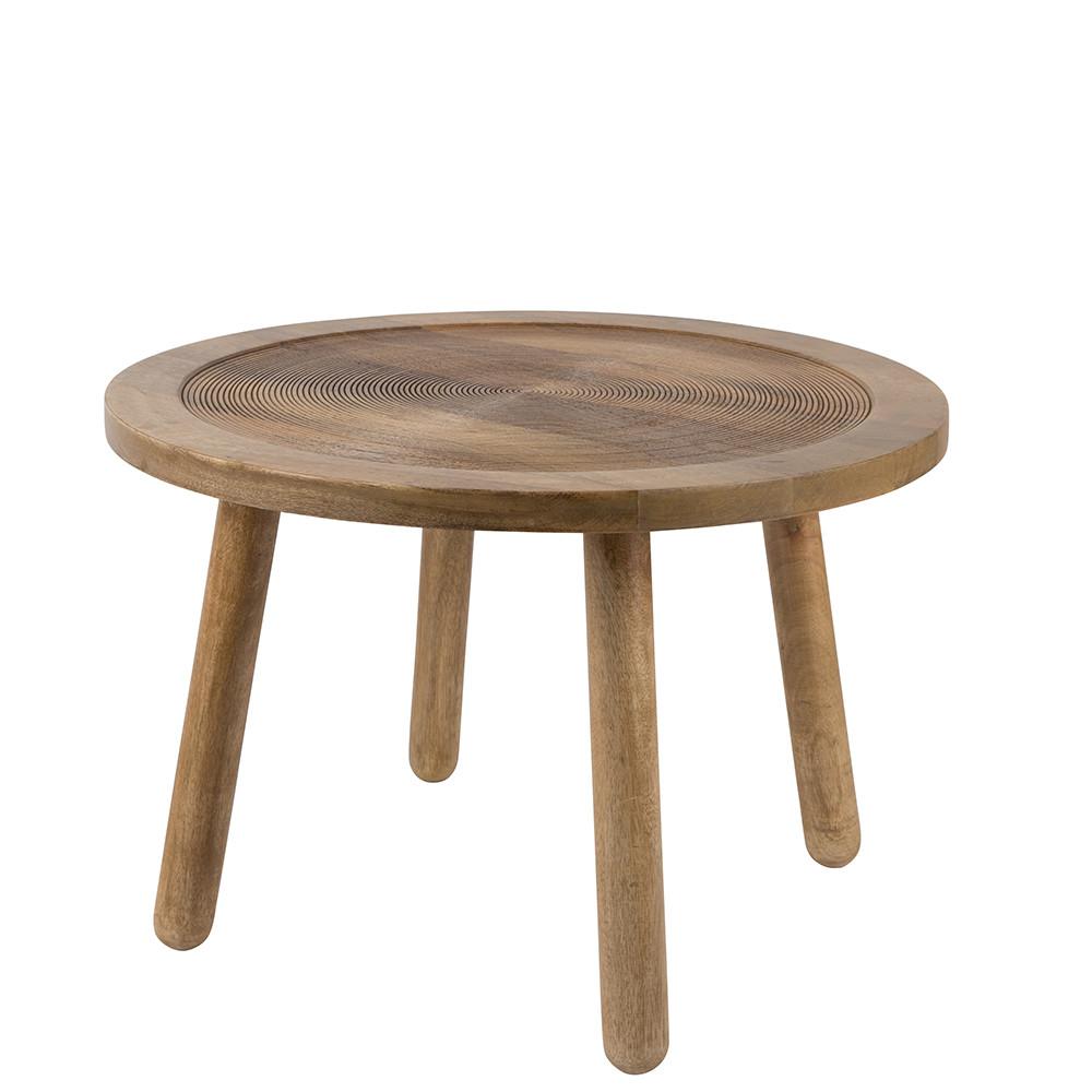 table d 39 appoint ronde bois 60 dendron zuiver. Black Bedroom Furniture Sets. Home Design Ideas