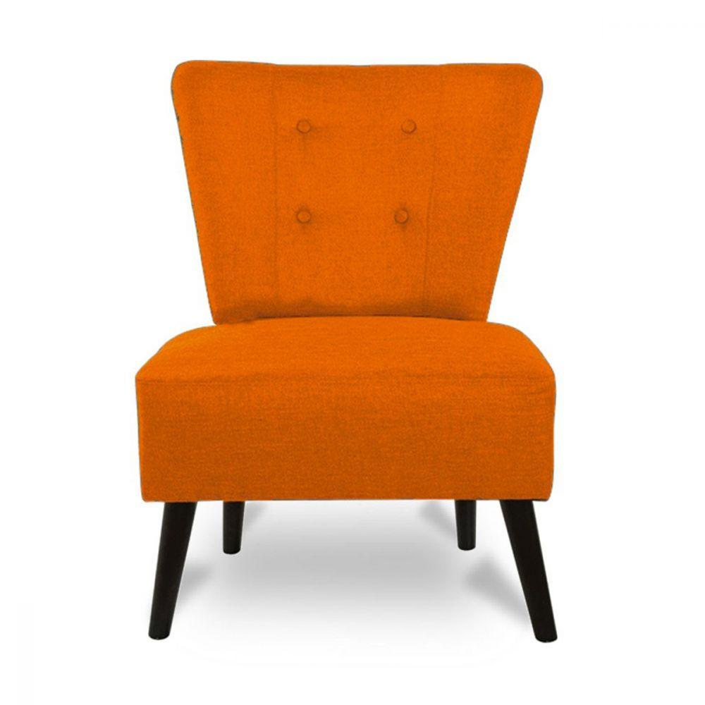 Fauteuil Lounge En Tissu Capitonné Brighton By Drawer - Fauteuil orange