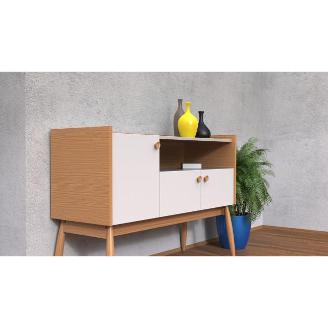 Buffet design bois 3 portes Farsta