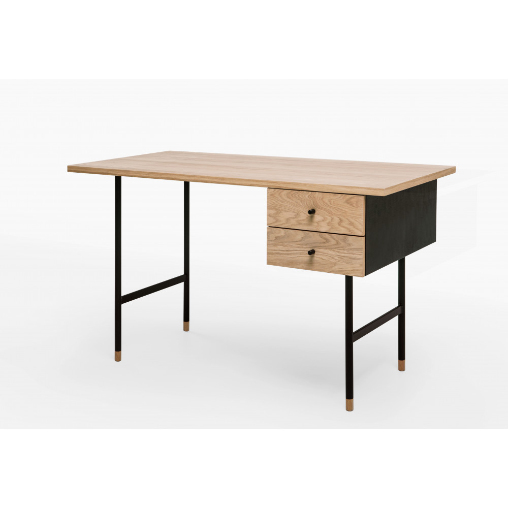 bureau design bois et m tal jugend by drawer. Black Bedroom Furniture Sets. Home Design Ideas