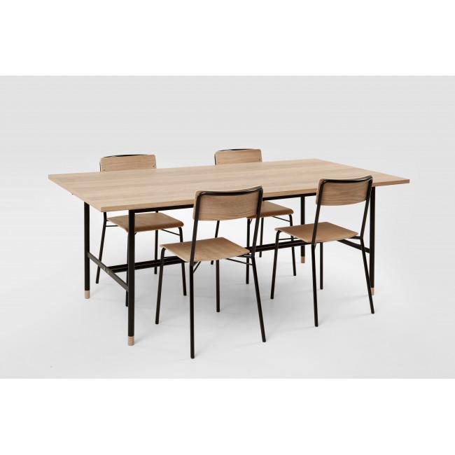 Table à manger bois et métal Jugend
