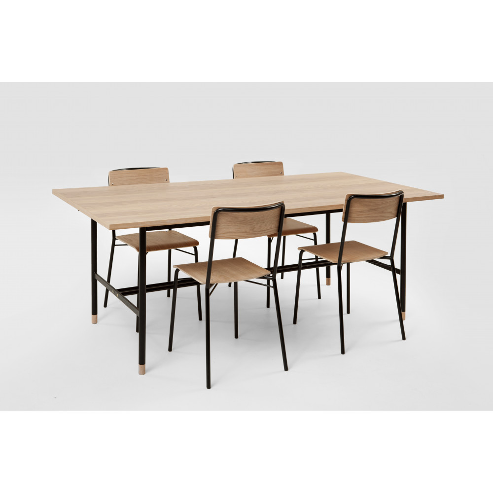 table manger bois et m tal jugend by drawer. Black Bedroom Furniture Sets. Home Design Ideas