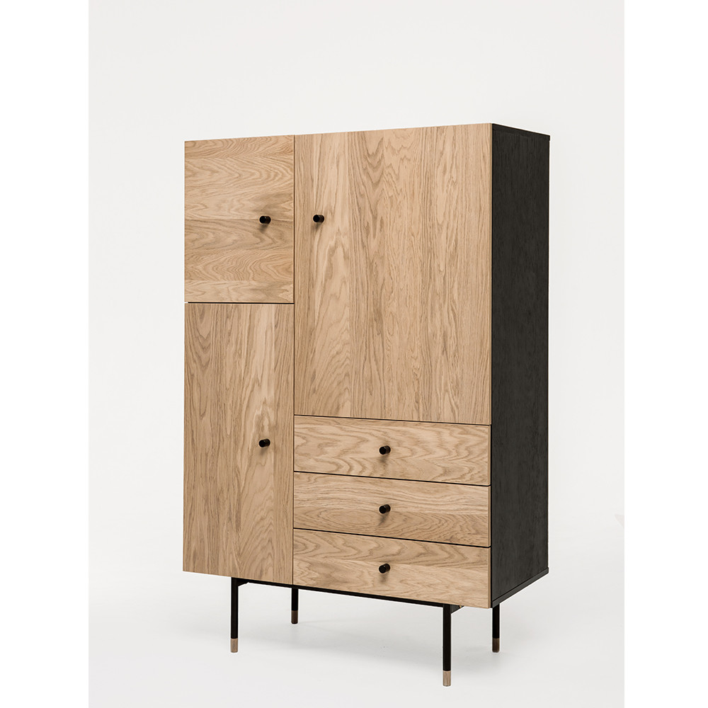 buffet haut design bois et m tal jugend by drawer. Black Bedroom Furniture Sets. Home Design Ideas