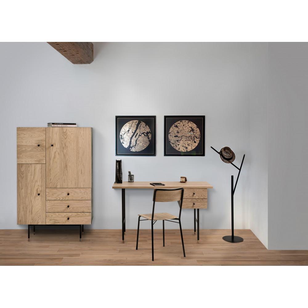 buffet haut design bois et m tal jugend by drawer. Black Bedroom Furniture Sets. Home Design Ideas