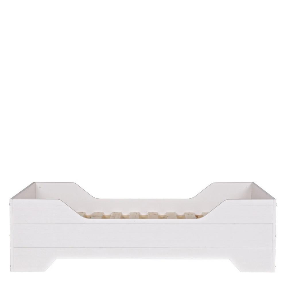 lit enfant pin massif blanc fien by drawer. Black Bedroom Furniture Sets. Home Design Ideas