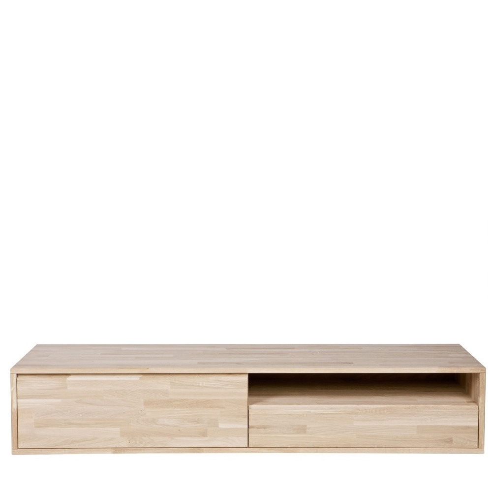 meuble tv suspendu ch ne massif tygo by drawer. Black Bedroom Furniture Sets. Home Design Ideas