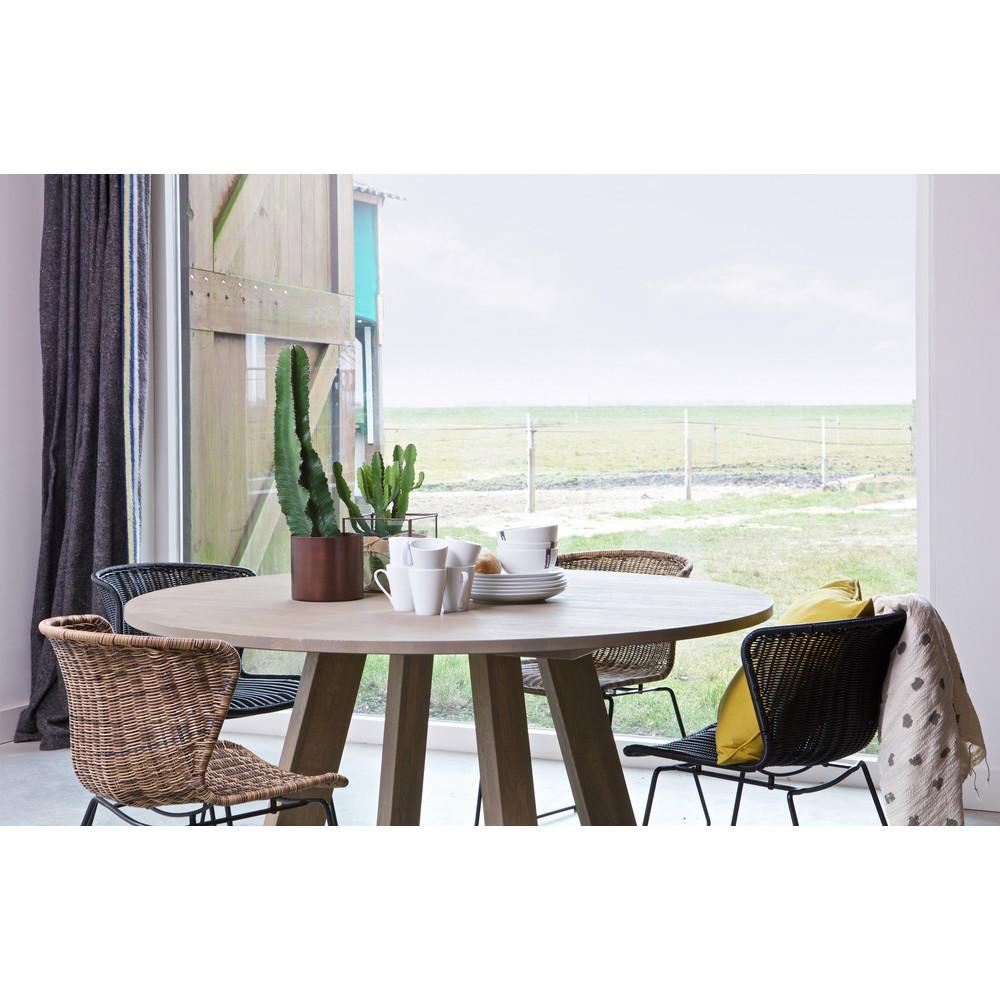 table manger ronde 150cm en ch ne jozua by drawer. Black Bedroom Furniture Sets. Home Design Ideas