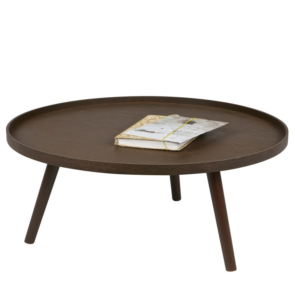 table d 39 appoint ronde bois xl mesa by drawer. Black Bedroom Furniture Sets. Home Design Ideas