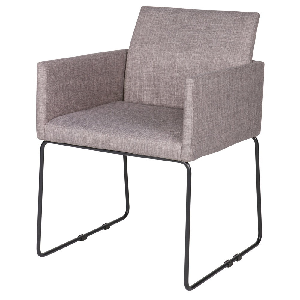 Lot de 2 chaises tissu et m tal jools by drawer for Chaise en tissu colore