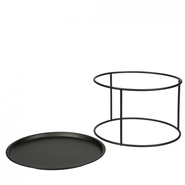 Table basse plateau amovible métal L Ivar