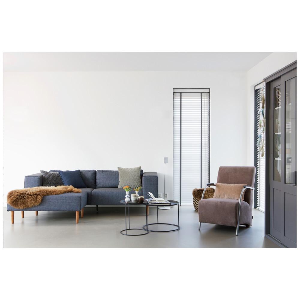 Canapé 3 places tissu et pieds en bois Bjork by Drawer