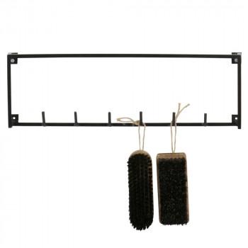 Etag re d 39 angle design industriel m tal noir meert by drawer for Porte manteau industriel