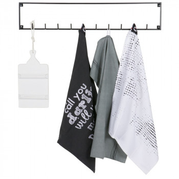 Porte manteau industriel 10 crochets métal Meert
