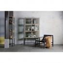 Armoire design industriel 6 portes verre et bois Showcase