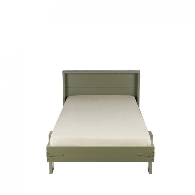Lit + tiroir de lit pour enfant pin brossé Derk