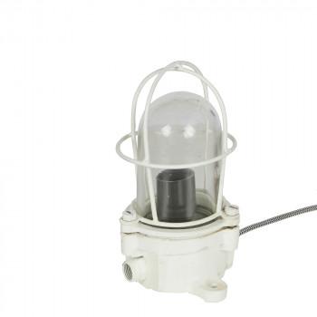 Lampe à poser industrielle métal blanc Shiplight