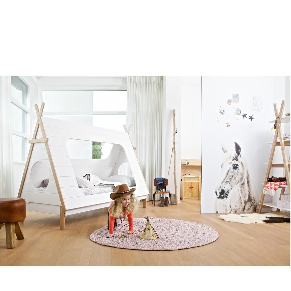 cadre de lit enfant bois avec sommier tipi drawer. Black Bedroom Furniture Sets. Home Design Ideas