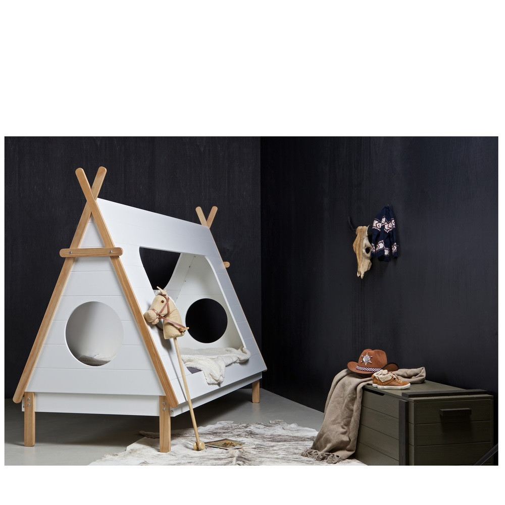 cadre de lit enfant bois avec sommier tipi drawer. Black Bedroom Furniture Sets. Home Design Ideas