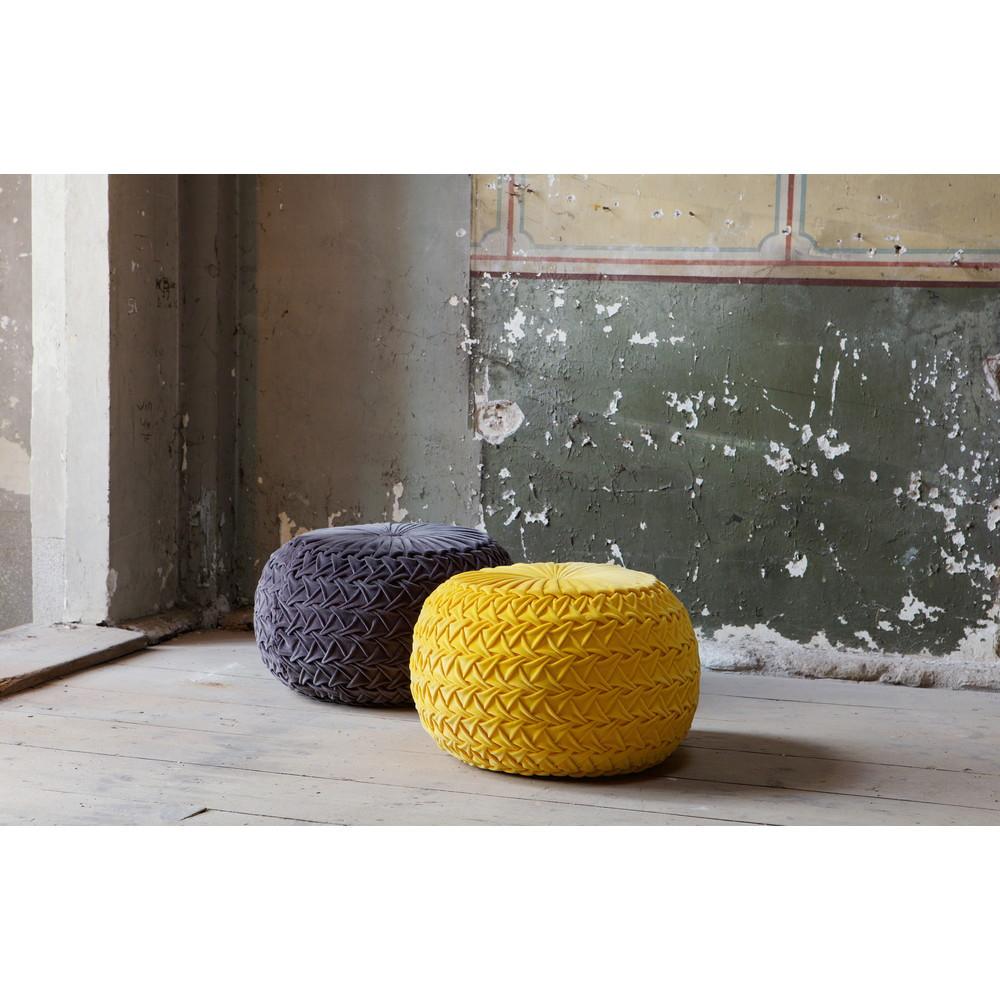 pouf design velours knitwor by drawer. Black Bedroom Furniture Sets. Home Design Ideas