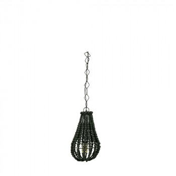 Suspension design perles de boisn noir S Funale