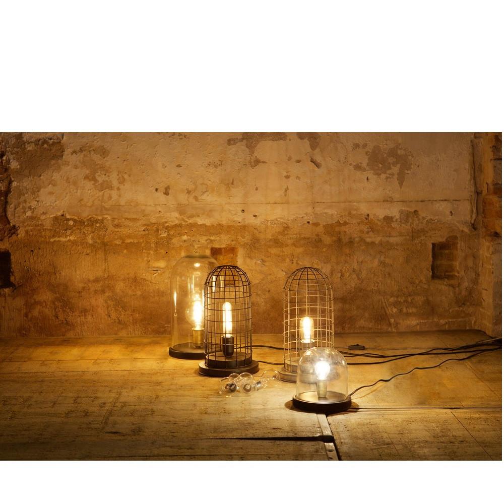 lampe poser industrielle verre et bois l cover up by drawer. Black Bedroom Furniture Sets. Home Design Ideas