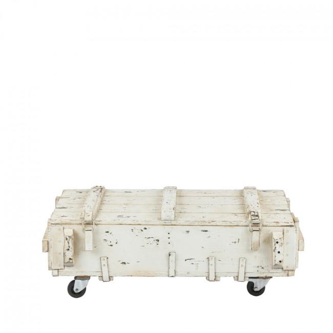 Table basse coffre en bois avec roulettes VT Army