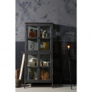 Armoire design asymétrique en bois noir Herritage