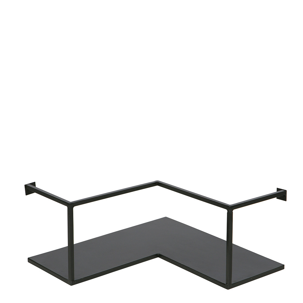 Etag re d 39 angle design industriel m tal noir meert by drawer - Etagere murale style industriel ...