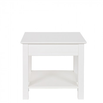 Table basse design pin massif blanc Perpignan