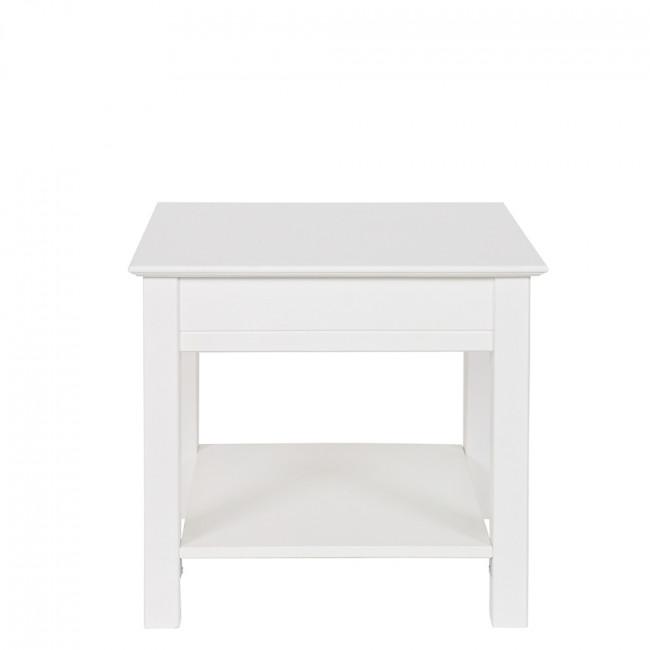 Table basse design pin massif blanc Perpignan