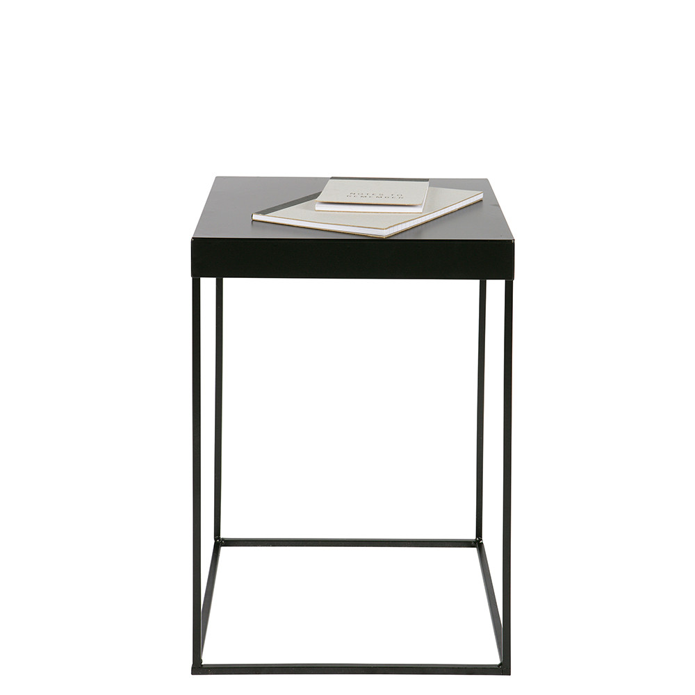 table d 39 appoint design industriel m tal noir meert by drawer. Black Bedroom Furniture Sets. Home Design Ideas